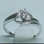 925純銀鍍18K CZ 女裝戒指