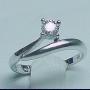 925純銀鍍18K CZ 女裝(爪鑲)戒指