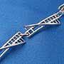 925純銀時尚手鏈(三角扭繩)