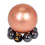 天然銅球 + 鐵礦石球座